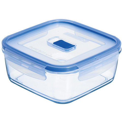 Luminarc Pure Box Active 3.2 Cup Square Storage Box with Lid (Set of 6)