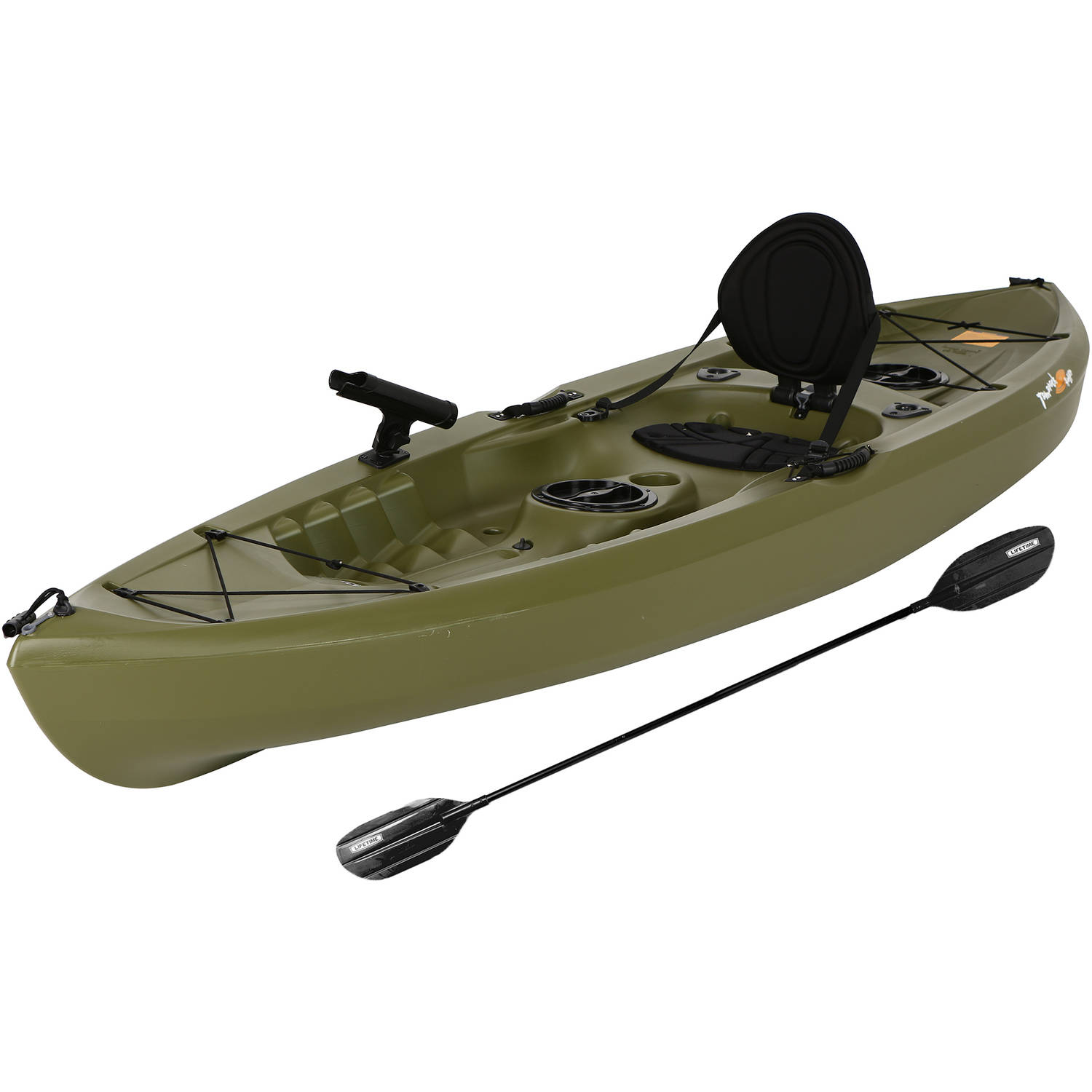 Lifetime Tamarack 120 Angler Kayak, Olive Green Image 1 of 7