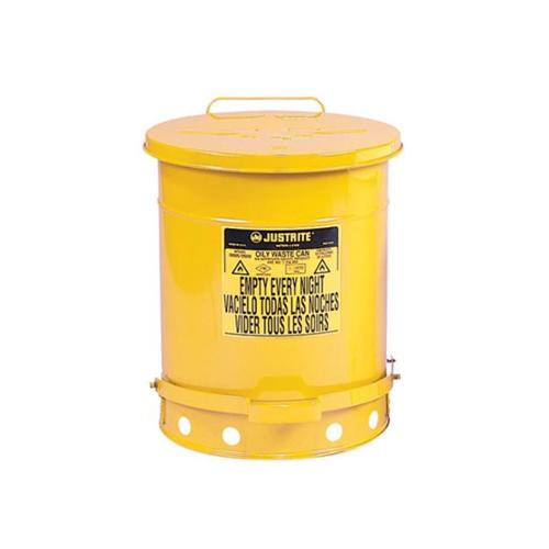 JUSTRITE Oily Waste Can 09501