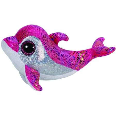 Dolphin Collectors (TY Beanie Boos - Sparkles the Pink Dolphin (Glitter Eyes) Small 6