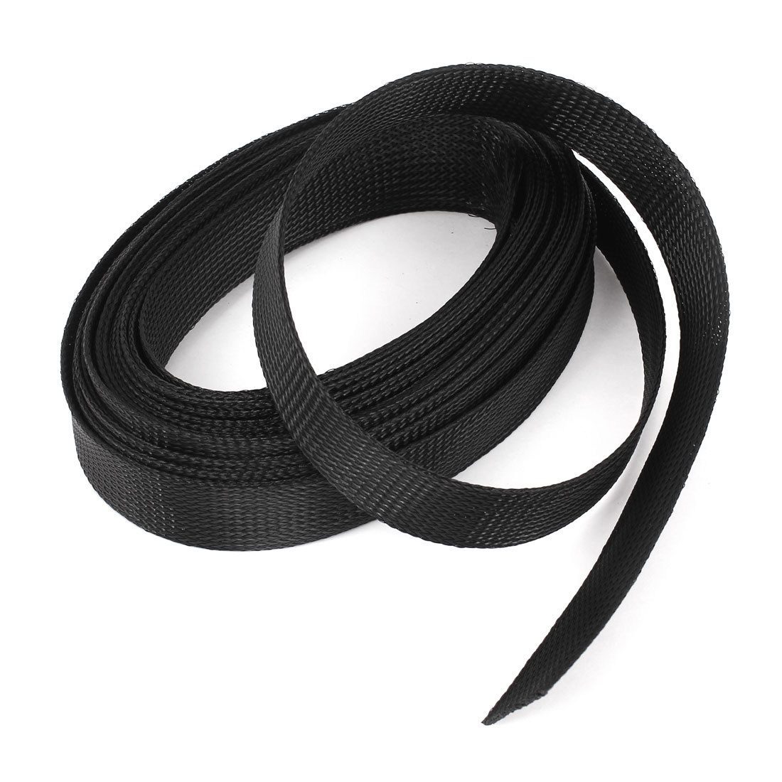 8m Long 30mm Wide Black Nylon Braided Elastic Expandable Sleeving Wire Harness Cable