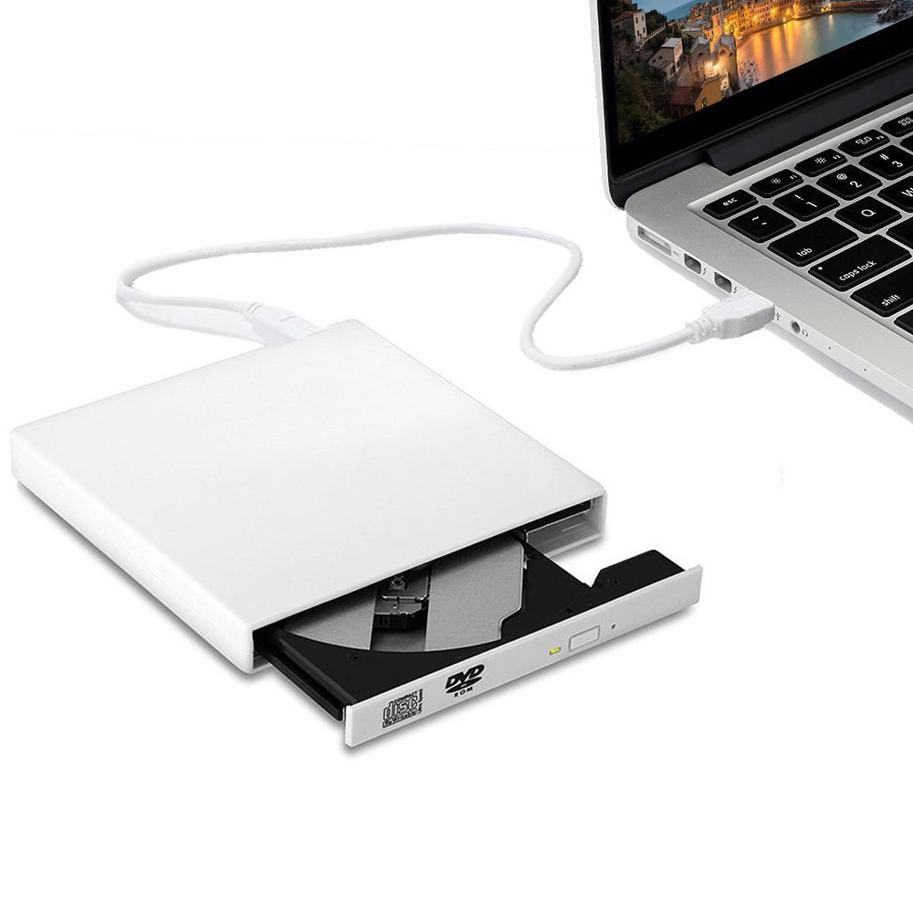 External DVD Drive, TSV USB 2.0 Transmission Slim Portable External DVD CD +/-RW Writer/Burner/Rewriter ROM Drive Perfect for Mac OS/Win7/Win8/Win10/Vista PC Desktop Laptop