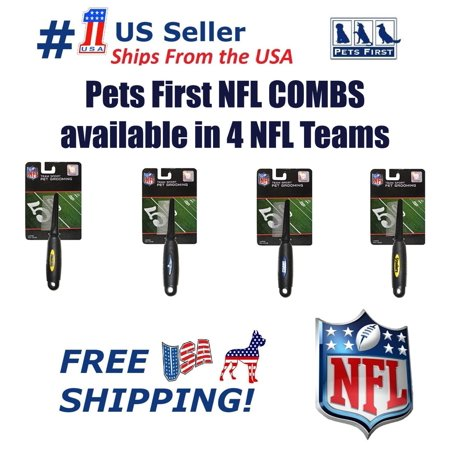 Pets First NFL New England Patriots Comb for Cats & Dogs - Licensed Football Pet Hair Comb, available in 4 NFL Teams