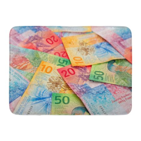 GODPOK Cash Franc Collection of The New Swiss Banknotes Issued in Switzerland Bank Rug Doormat Bath Mat 23.6x15.7 - Banknote Collection