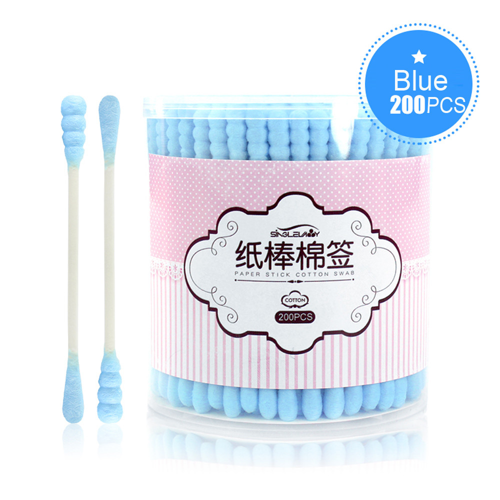 Mosunx SingleLady NEW 200 PCS Soft Cotton Swab Applicator Extra Long Handle For Camping