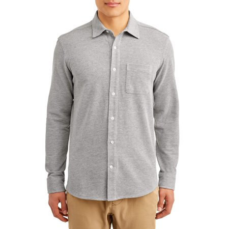 Pacific Knit Shirt (George Mens Long Sleeve Knit Button Down Shirt up to)
