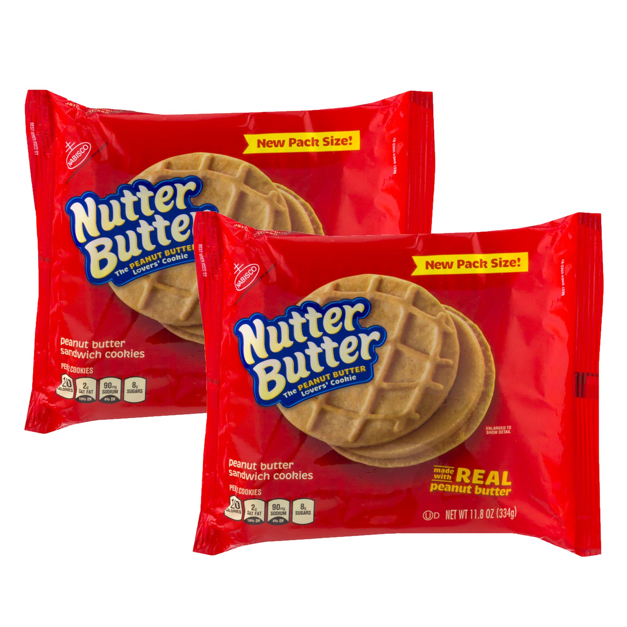 Nabisco Nutter Butter Sandwich Cookies, 11.8 OZ