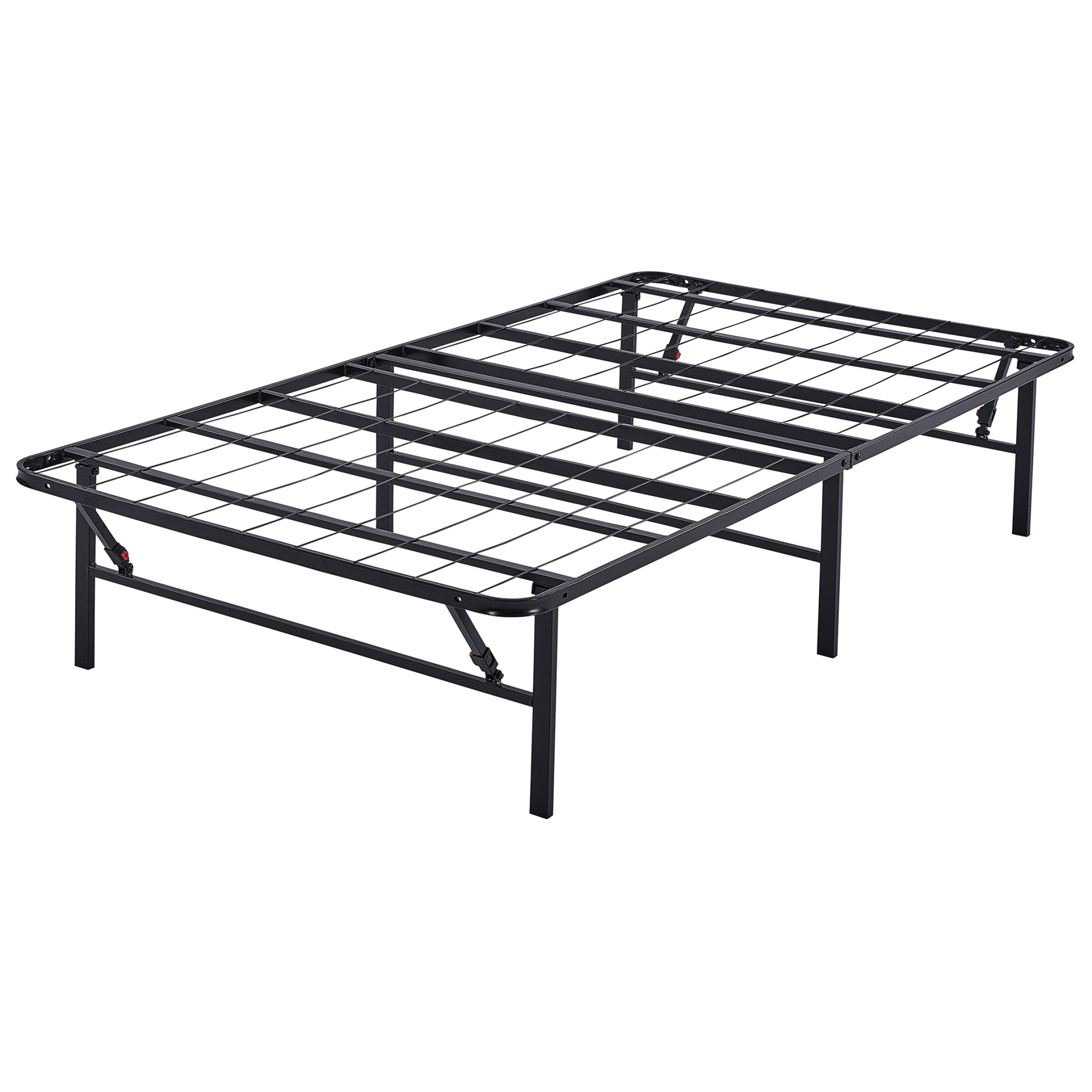 """Mainstays 14"""" High Profile Foldable Steel Bed Frame, Powder-coated Steel"""