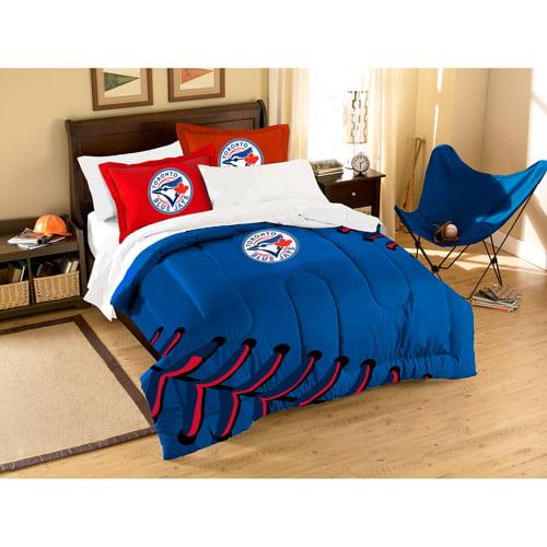 MLB Applique Twin/Full Bedding Comforter Set, Blue Jays