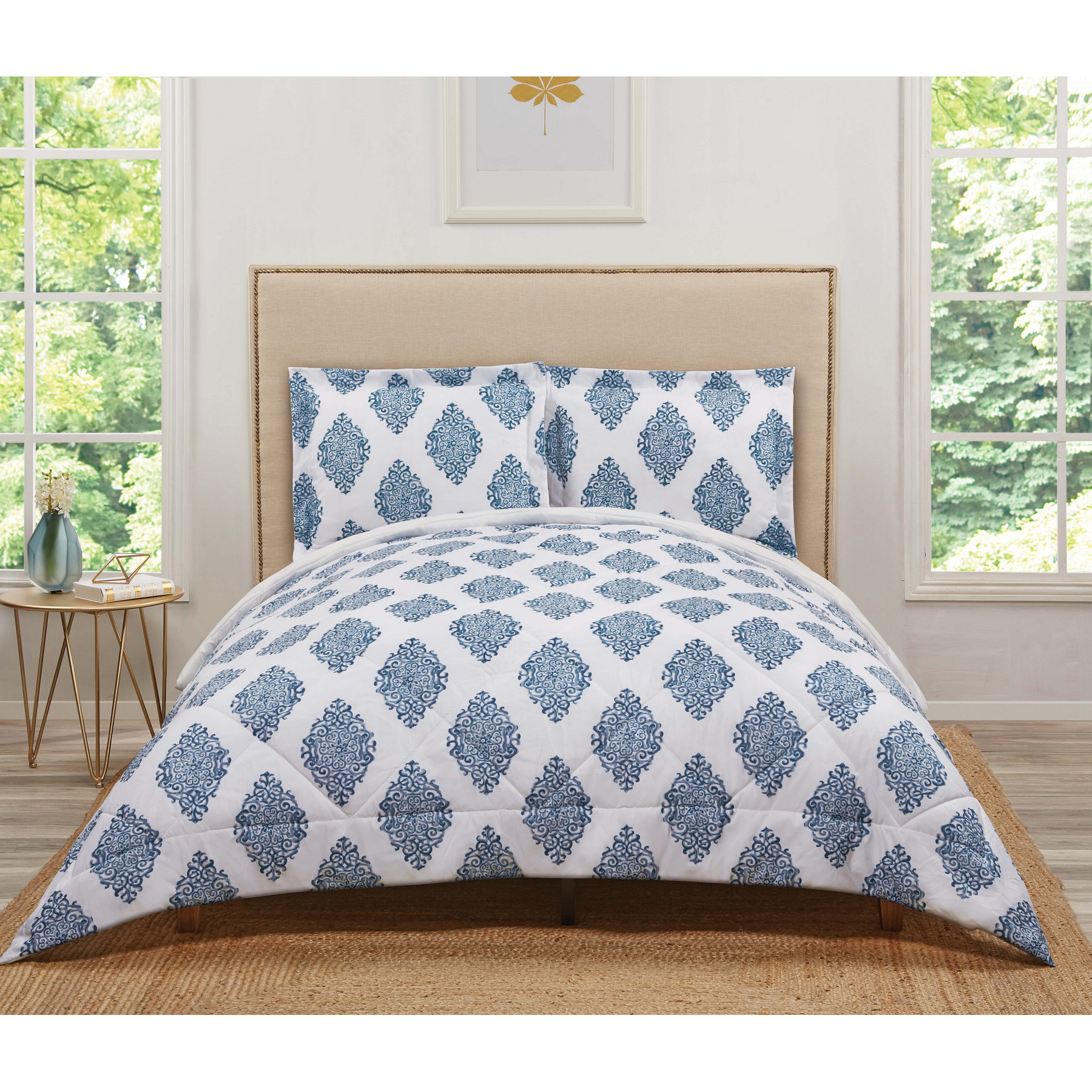 Truly Soft Annika Navy Twin Extra Long Comforter Set