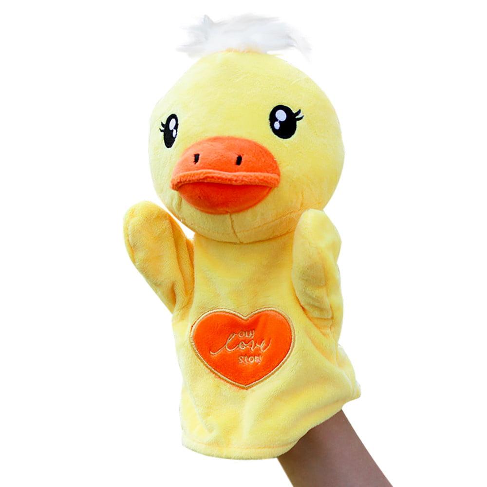DZT1968 Kids Glove Hand Puppet Soft Plush Finger Toys Cute Cartoon Animal Doll Toys