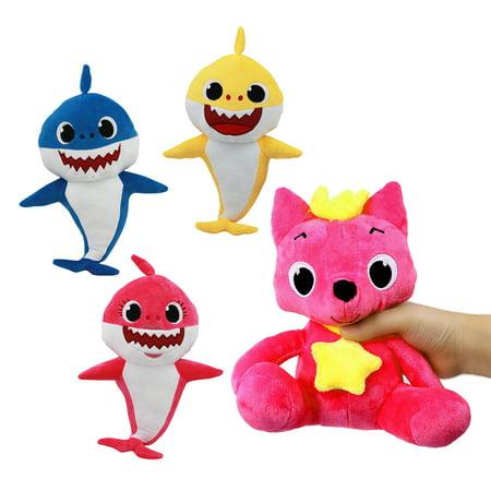 Cartoon Toys Fox Sharks Dolls Plush Soft Children Baby Animal Kid Toys For Boys Girls Cute Gift (Sharks Gifts)