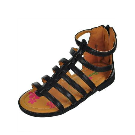 Petalia Girls' Gladiator Sandals (Sizes 5 - 10) - Girls Gladiator Sandals