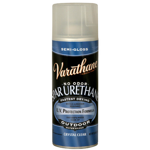 Varathane Outdoor Diamond  Wood Finish Water Based Aerosol Spray Paint Semi-Gloss (Set of 6)