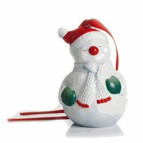 Franz Porcelain - Ornament - Holiday Greetings - Snowman