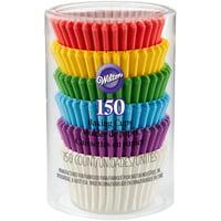 (3 Pack) Wilton Rainbow Cupcake Liners, 150ct