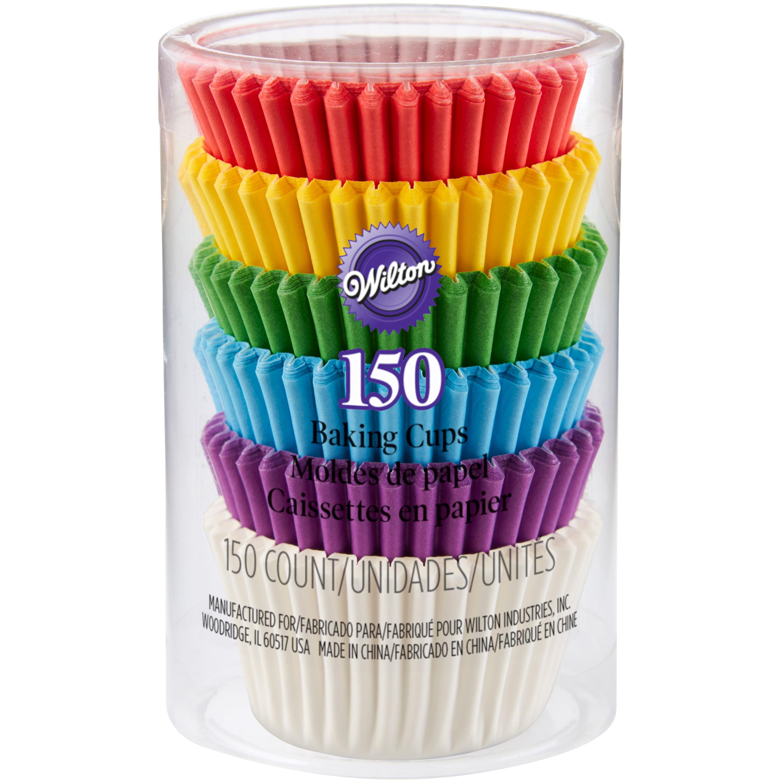 Wilton Rainbow Mini Cupcake Liners, 150ct