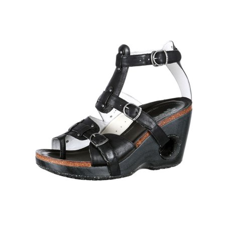4EurSole Casual Shoes Womens Set Free Wedge Sandal Black RKH091