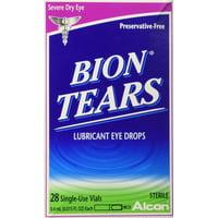Bion Tears Lubricant Eye Drops, Single-Use Vials - 28 Count