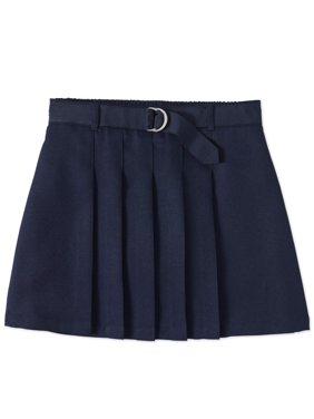 Wonder Nation Big Girls Plus School Uniform Pleated Belted Scooter (Big Girls Plus)