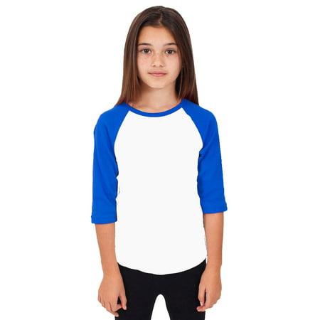 Kids Raglan 3/4 Sleeve Baseball Slim Fit T Shirt (Halloween Suits For Kids)