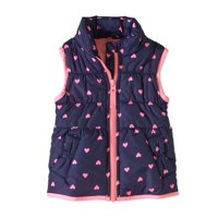 Child of Mine by Carter's Baby Toddler Girl Bubble Vest (Navy Hearts)
