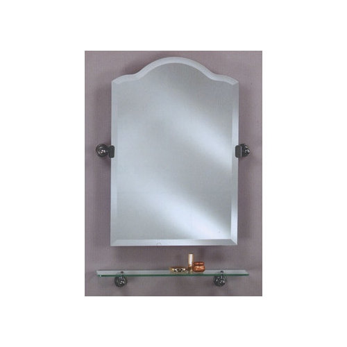 Afina Scallop Frameless Top Mirror with Bracket