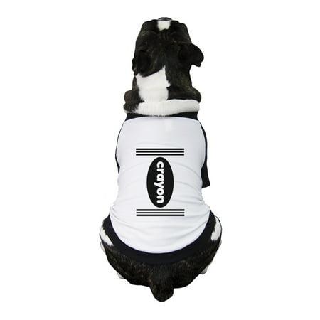 Crayon Funny Halloween Costumes For Dogs Graphic Raglan Pet Shirt