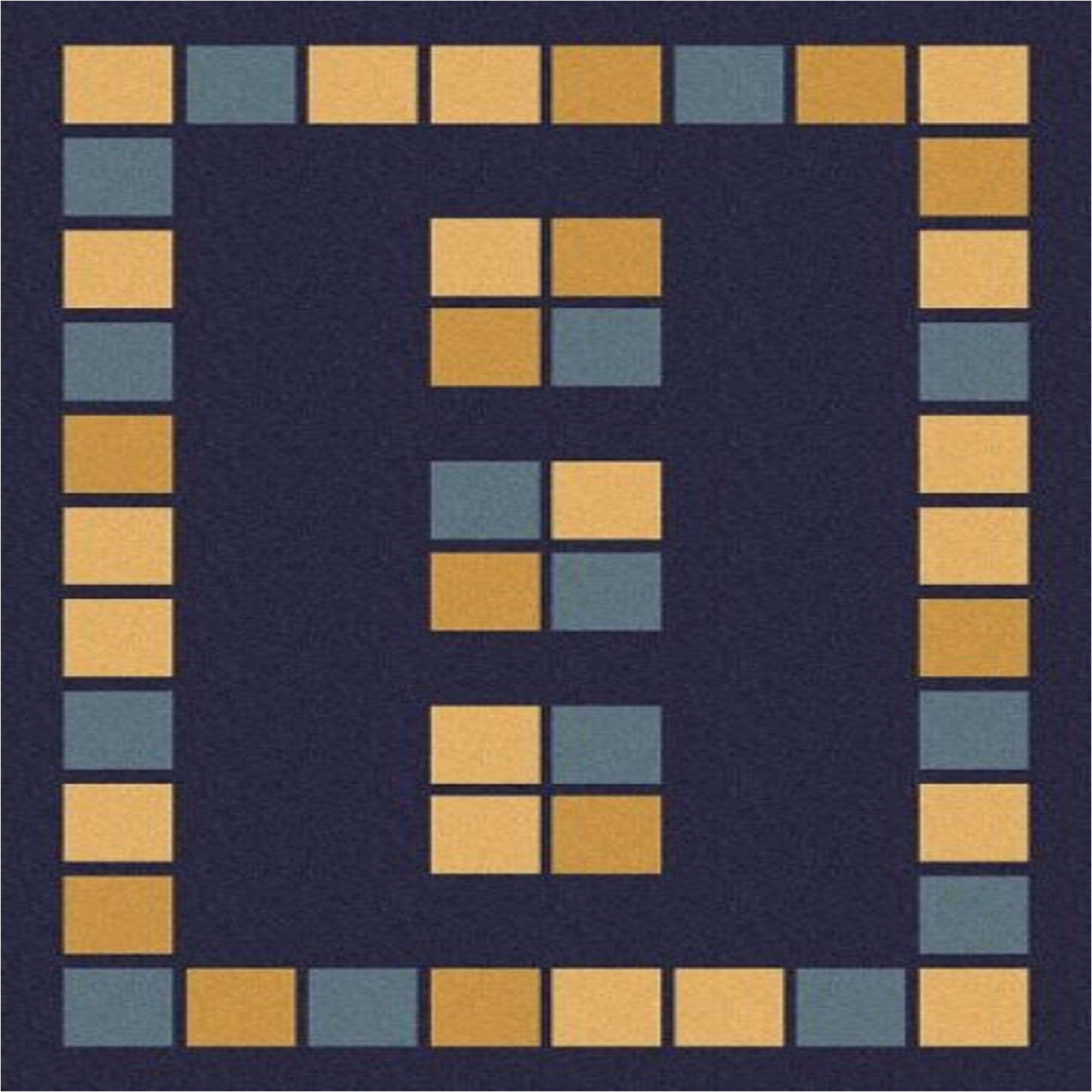 Art Carpet Woven Area Rug, Blue Geometric