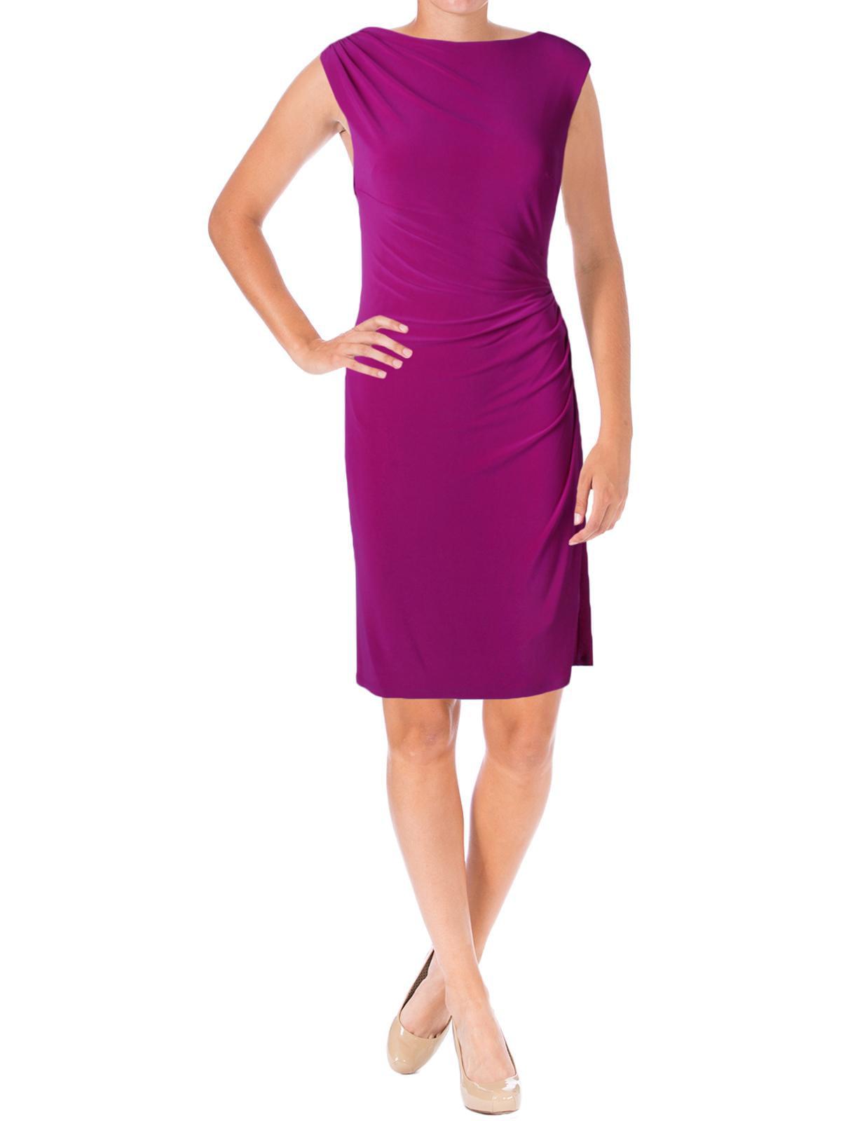Lauren Ralph Lauren Womens Vannalyn Matte Jersey Fitted Cocktail Dress