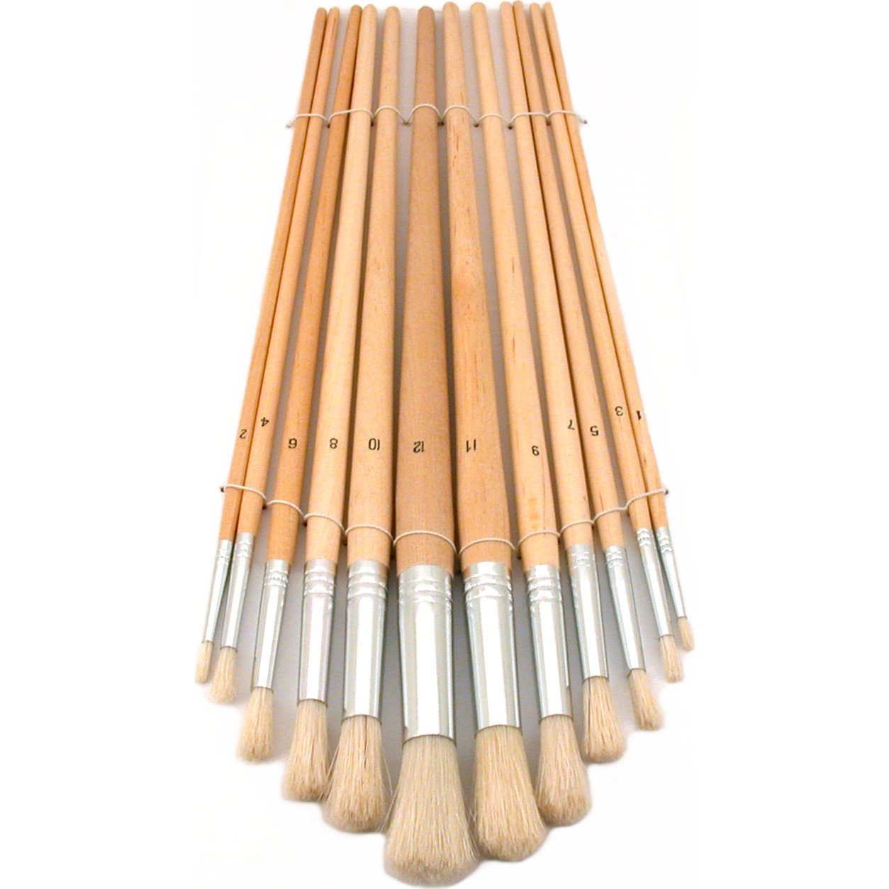 12 Round Tip Paint Brushes