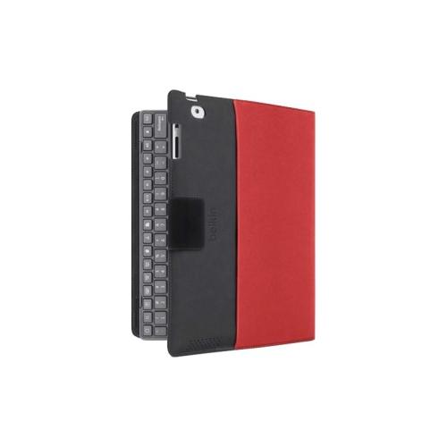 Belkin YourType Keyboard/Cover Case (Folio) for iPad - Black, Red 2NV9111