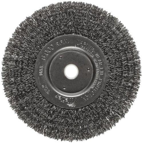 Weiler 21090 0.003 Wire Size Steel Bristles Single Stem Single Spiral Hand Tube Brush With Eye Handle 3//16 Diameter 7 Length