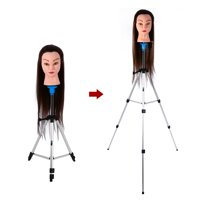WALFRONT Salon Hair Cosmetology Hairdressing Tripod Stand Holder Adjustable Mannequin Training Head Tripod Stand with Carry Bag