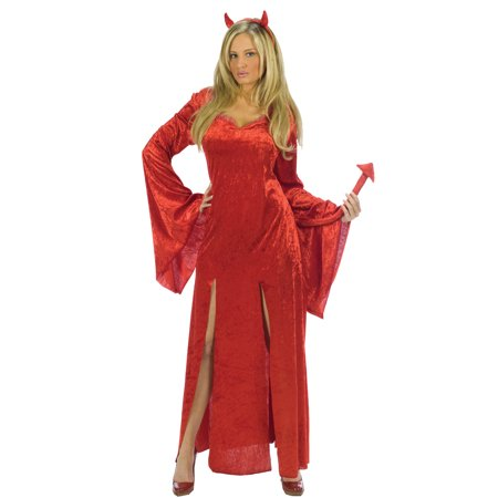 Sultry Devil Women's Adult Halloween Costume, One Size, S/M (2-8)