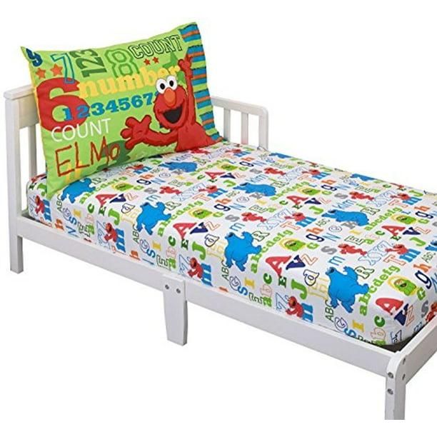 2 Piece Elmo Friends Toddler Sheet, Elmo Bedding Queen Size