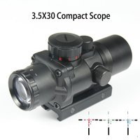 BLACK BDC Reticle 3.5X30 Ultra Compact Prismatic Red Blue Green Illuminated Fixed Power Scope