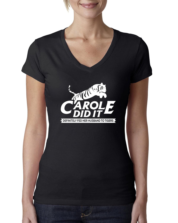 Cool Joe Exotic Sweatshirt Makes a Great Novelty Funny Gift Carole Did It Novelty Tiger King Adult Crewneck Sweat Shirt