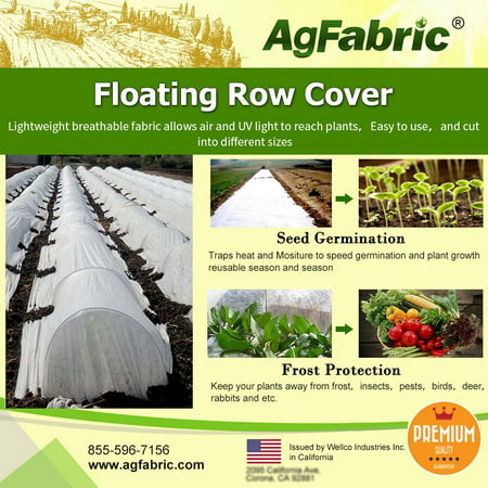 (Agfabric Warm Worth Floating Row Cover & Plant Blanket, 0.55oz Fabric of 6x25ft for Frost Protection, Harsh Weather Resistance& Seed Germination)