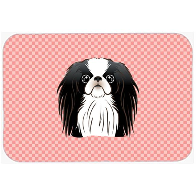 Checkerboard Blue Japanese Chin Mouse Pad, Hot Pad Or Trivet, 7.75 x 9.25 In.