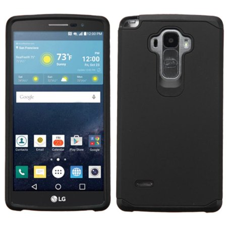 Insten Hard Dual Layer Rubber Coated Silicone Case For LG G Stylo/G Vista 2 - Black - image 3 de 3