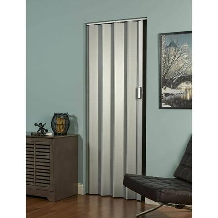 Elite Folding Door, Satin Silver