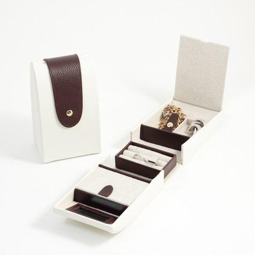 Bey-Berk 2 Compartment Jewelry Box