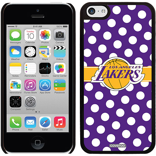 Los Angeles Lakers Polka Dots Design on Apple iPhone 5c Thinshield Snap-On Case by Coveroo