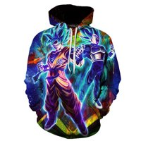 Fancyleo Men's 3D Dragon Ball Z Anime Hoodie Goku Super Saiyan Fans Sweatshirt Cosplay Pullover Top(2XL Multicolor01)