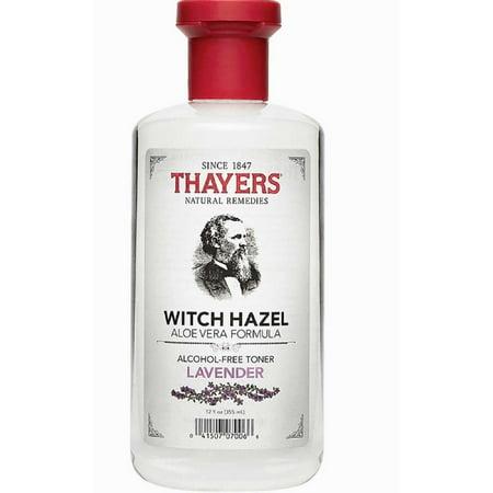 Thayers Alcohol Free Witch Hazel With Organic Aloe Vera Formula Toner  Lavender 12 Oz