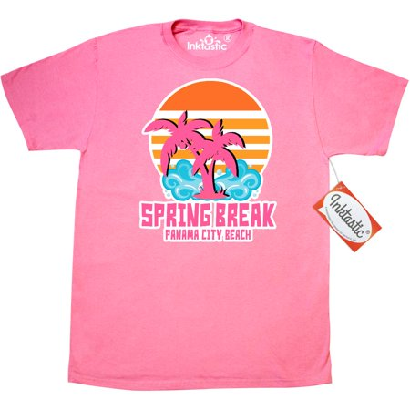 Inktastic Spring Break In Panama City Beach With Palm Trees T-Shirt Ocean Vacation Sand Spot Fun Party Tree Sunshine Sun Mens Adult Clothing Apparel Tees T-shirts ()