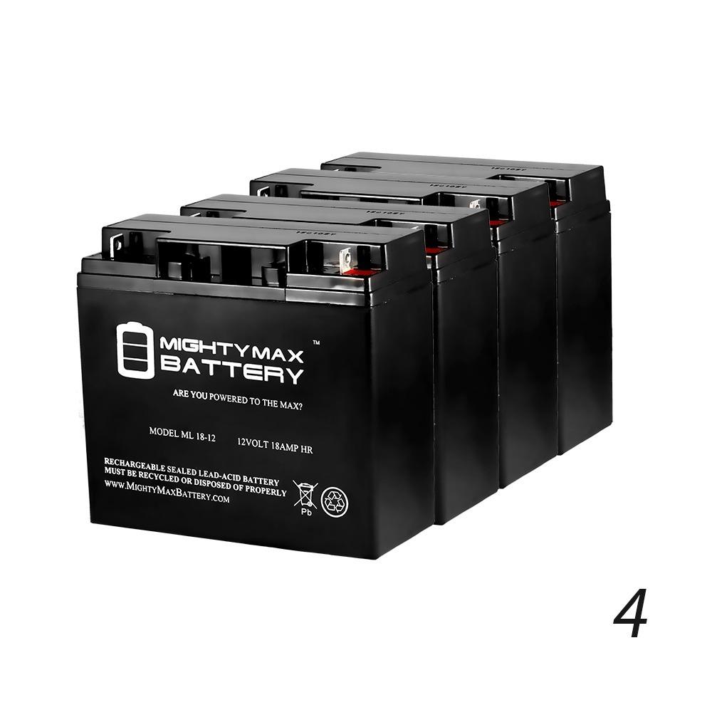 12V 18AH SLA Battery for Solaris Lite Led flood light - 4 Pack