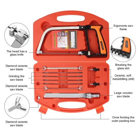Multi purpose 8 in 1 saw hand diy saws tools kit steel glass wood working cutting extra 5 Mental blade (gift)