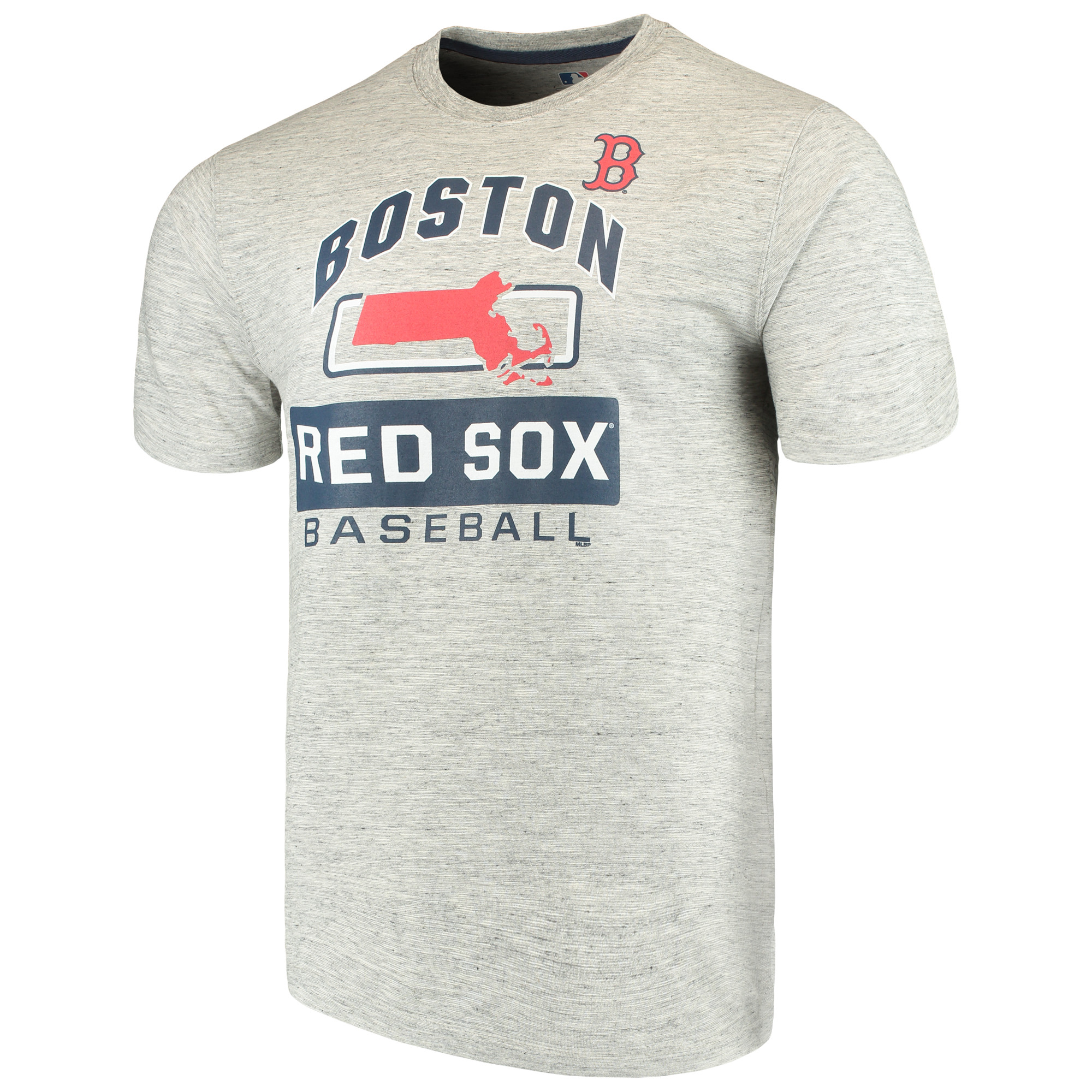 Men's Majestic Heathered Gray Boston Red Sox Endurance Factor T-Shirt